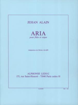 Aria - Flûte orgue Jehan Alain Partition laflutedepan