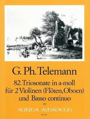 Triosonate Nr. 82 a-moll -2 Violinen Flöten, Oboen Bc laflutedepan