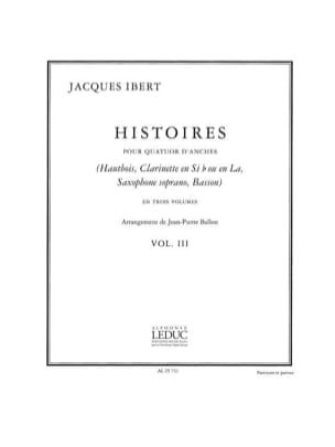 Histoires - Volume 3 -Quatuor d'anches - Cond. + parties laflutedepan