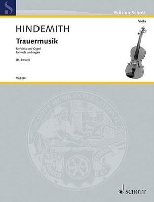 Trauermusik - alto et orgue HINDEMITH Partition Alto - laflutedepan