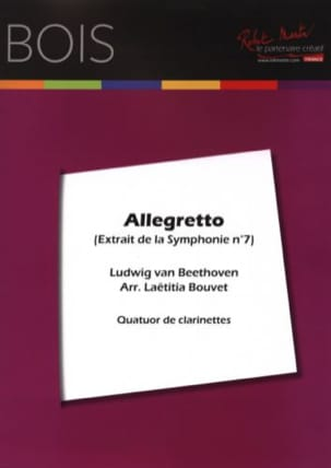 Allegretto - 4 Clarinettes BEETHOVEN Partition laflutedepan