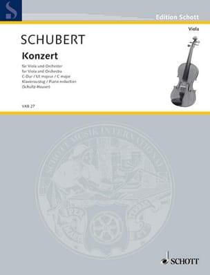 Konzert C-Dur für Viola - Viola Klavier Joseph Schubert laflutedepan