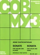 Sonate für Violine und Klavier KHATCHATURIAN Partition laflutedepan