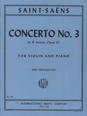Camille Saint-Saëns - Concierto para violín n. 3 op. 61 en si menor Francescatti - Partition - di-arezzo.es