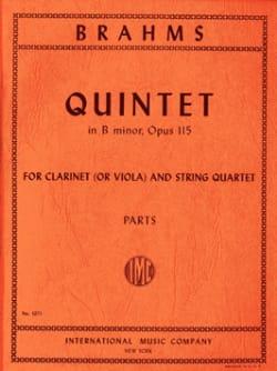 Quintet in B minor op. 115 -Clarinet or viola string quartet - Parts laflutedepan