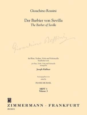 Der Barbier von Sevilla - Heft 3 - Flöte Violine Viola Cello - Part. + St. laflutedepan