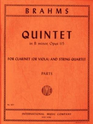 Quintet in B minor op. 115 -Clarinet or viola string quartet - Parts - laflutedepan.com