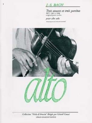 3 Sonates et 3 Partitas - BACH - Partition - Alto - laflutedepan.com