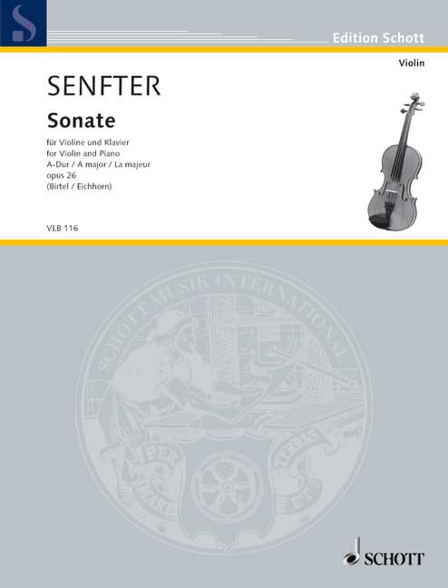 Sonate En la Maj. Op.26 - Johanna Senfter - laflutedepan.com