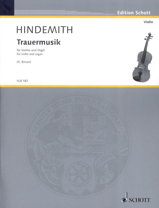 Trauermusik - Violon et orgue - HINDEMITH - laflutedepan.com