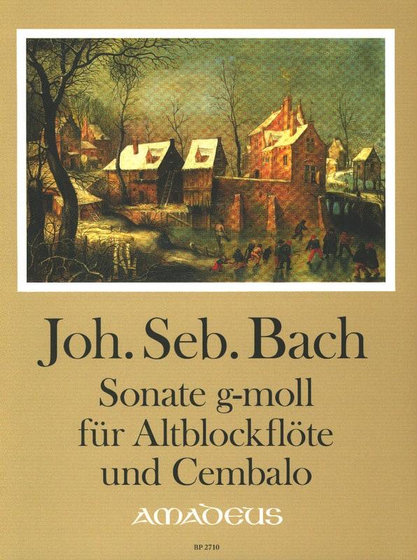 Sonate en sol mineur, BWV 527 - Flûte à bec alto et BC - laflutedepan.com