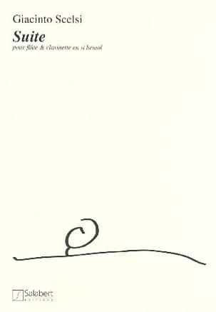 Suite - Flûte et clarinette Giacinto Scelsi Partition laflutedepan