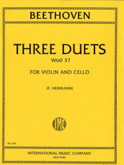 3 Duets WoO 37 - Violin Cello BEETHOVEN Partition 0 - laflutedepan