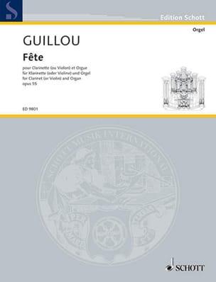 Fête Op.55 Jean Guillou Partition Clarinette - laflutedepan