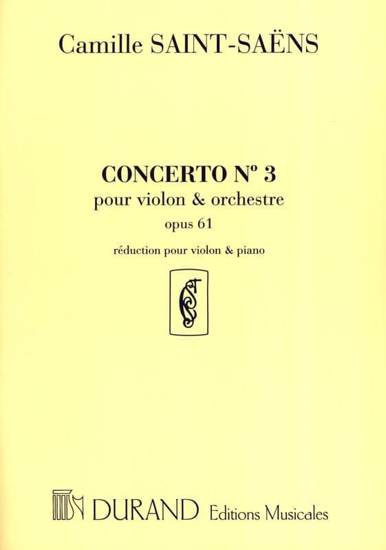 Concerto Violon n° 3 op. 61 - SAINT-SAËNS - laflutedepan.com
