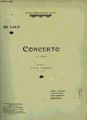 Concerto Violon op. 20 - LALO - Partition - Violon - laflutedepan.com
