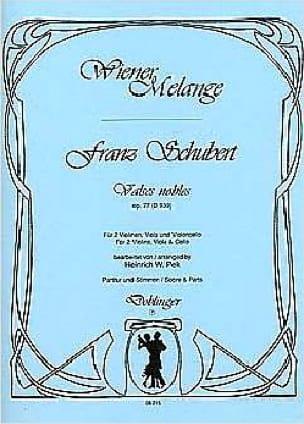 Valses nobles op. 77 - D. 939 -Streichquartett - Partitur + Stimmen - laflutedepan.com
