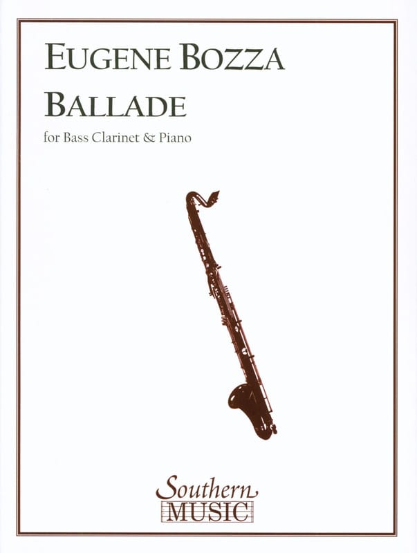 Ballade - Eugène Bozza - Partition - Clarinette - laflutedepan.com