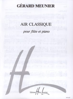 Air classique Gérard Meunier Partition laflutedepan
