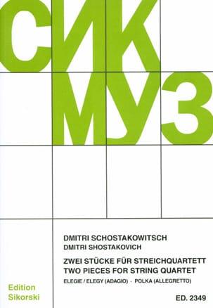 2 Stücke für Streichquartett -Partitur + Stimmen laflutedepan