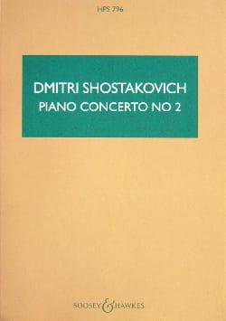 Concerto Piano Nr. 2 op. 102 - Partitur CHOSTAKOVITCH laflutedepan