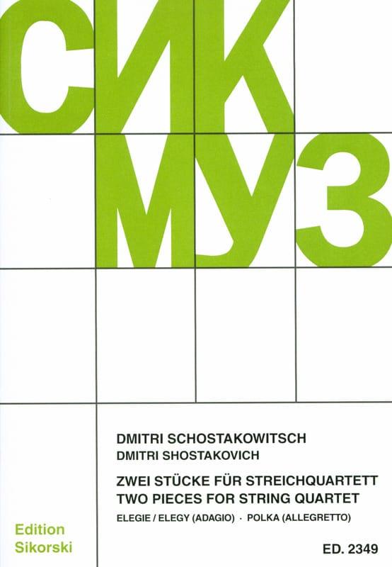 2 Stücke für Streichquartett -Partitur + Stimmen - laflutedepan.com