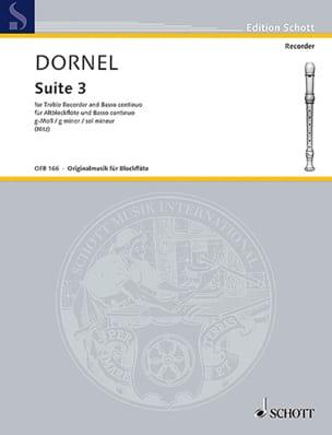 Suite III g-Moll Louis-Antoine Dornel Partition laflutedepan