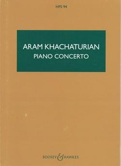 Concerto Pour Piano - Score KHATCHATURIAN Partition laflutedepan