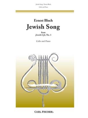Jewish Song n° 3 BLOCH Partition Violoncelle - laflutedepan