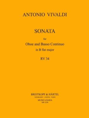 Sonate B flat major RV 34 -Oboe Bc VIVALDI Partition laflutedepan