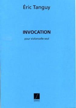 Invocation Eric Tanguy Partition Violoncelle - laflutedepan