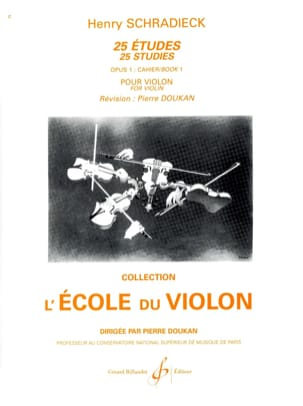 Henry Schradieck - 25 Studies Op. 1 - Booklet 1 - Partition - di-arezzo.com