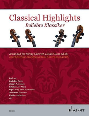 Classical Highlights - Quatuor à cordes Partition laflutedepan