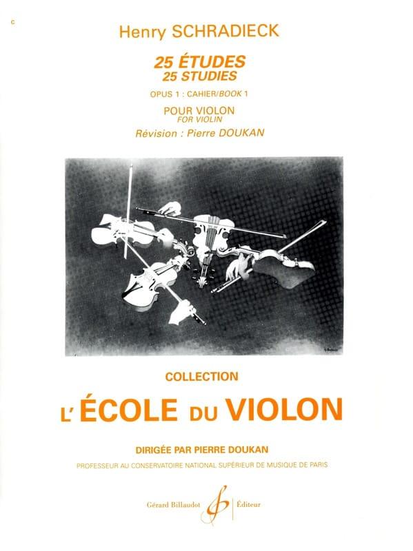 25 Etudes Op. 1 - Cahier 1 - Henry Schradieck - laflutedepan.com