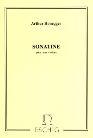 Sonatine pour 2 violons HONEGGER Partition Violon - laflutedepan