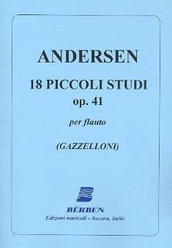 18 Piccoli studi op. 41 ANDERSEN Partition laflutedepan