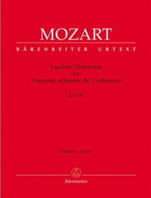 Laudate Dominum aus KV 339 - Partitur - MOZART - laflutedepan.com