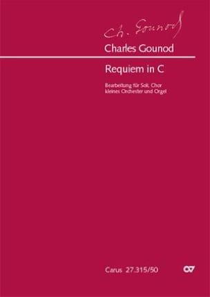 Requiem en Ut Majeur GOUNOD Partition Grand format - laflutedepan