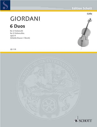 6 Duos, op. 4 - Tommaso Giordani - Partition - laflutedepan.com