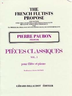 Pièces Classiques - Volume 1 Pierre Paubon Partition laflutedepan