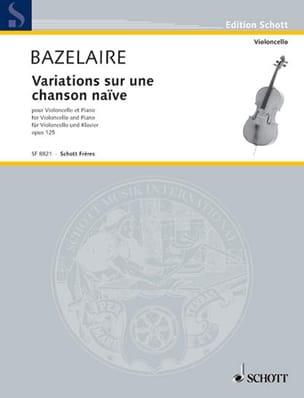 Variations sur une chanson naïve Op. 125 Paul Bazelaire laflutedepan