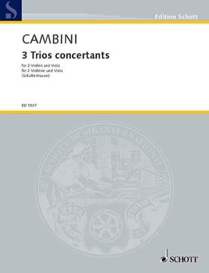 3 Trios concertants - Stimmen Giuseppe Maria Cambini laflutedepan