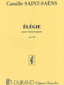 Elégie op. 143 SAINT-SAËNS Partition Violon - laflutedepan