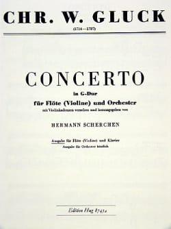 Concerto G-Dur - Flöte Violine Klavier GLUCK Partition laflutedepan