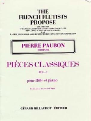 Pièces Classiques - Volume 1 - Pierre Paubon - laflutedepan.com