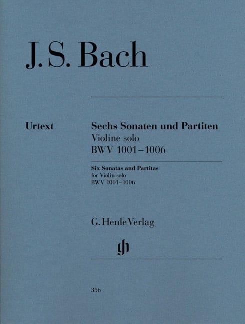 Sonates et Partitas BWV 1001-1006 pour Violon solo - laflutedepan.com