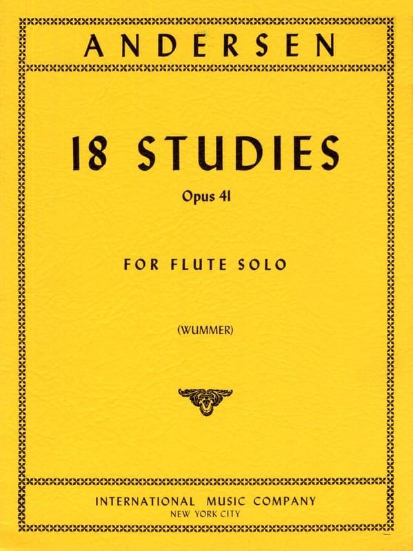 18 Studies op. 41 - ANDERSEN - Partition - laflutedepan.com