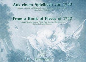 Aus einem Spielbuch von 1740 Erich Doflein Partition laflutedepan