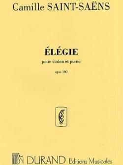 Elégie op. 160 SAINT-SAËNS Partition Violon - laflutedepan