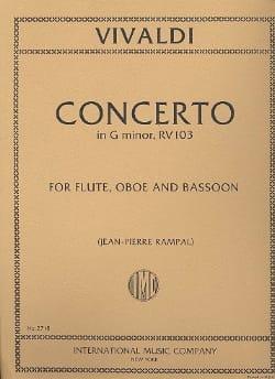 Concerto in G minor RV 103 - Flute oboe bassoon VIVALDI laflutedepan